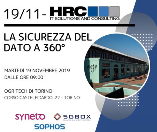 Evento HRC 19 Novembre